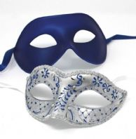 Blue and Silver Masks